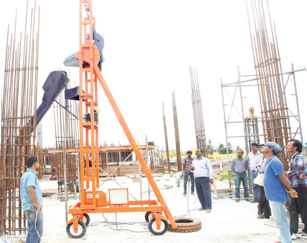 Concrete Lifting | Concrete Lift Machine - Balakrishna Engineering
